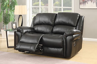 Farnham Leather Look Fabric Recliner Sofa