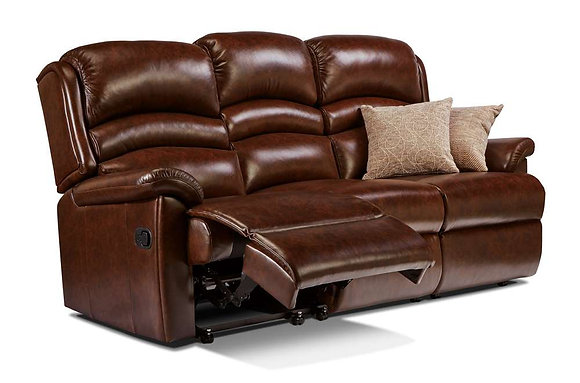 Sherborne Olivia Leather 3 Seater Manual Recliner Sofa