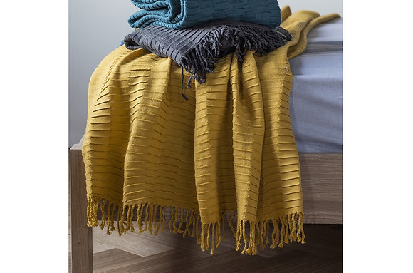 Linear Pleat Throw Chartreuse