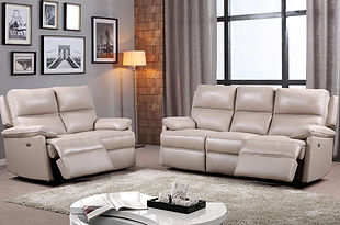 Bailey Leather Recliner Sofa & Chairs | Taupe Swatch