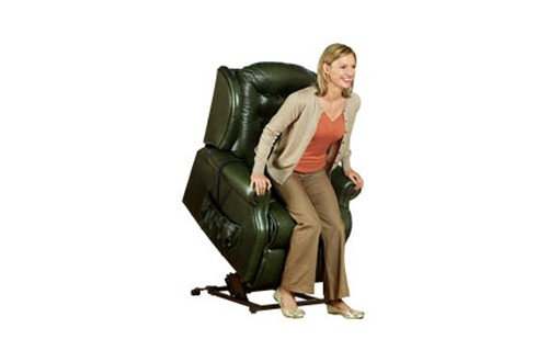 Sherborne Lynton Leather Small Lift & Rise Care Recliner Chair