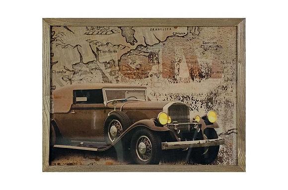 Vintage Car Glass Wall Art