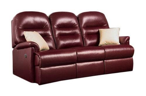 Sherborne Keswick Leather Small 3 Seater Power Recliner Sofa