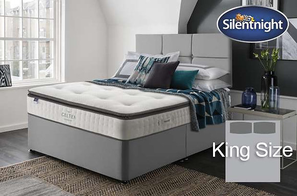 Silentnight Elson Miracoil King Size Divan Bed with Geltex