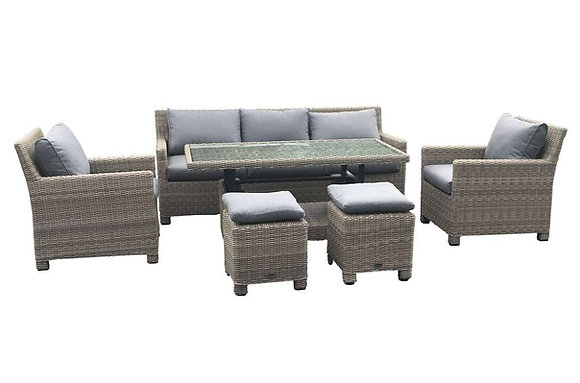 Royalcraft Wentworth Sofa Dining Set with Height Adjustable Table