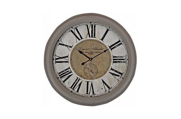 Grey Script Wall Clock