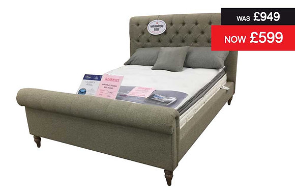 Waverly 135cm Double Bedstead in Wheat