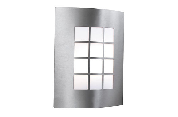 Searchlight Lighting Stainless Steel Outdoor Lamp, Square Diffuser