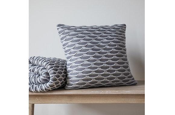 Arcos Knitted Cushion Grey