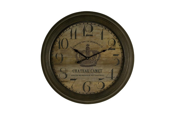 Chateau Canet Iron Wall Clock