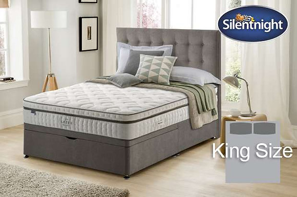 Silentnight Huxley Mirapocket King Size Divan bed with Latex