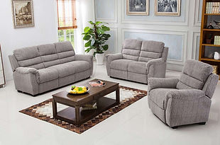 Dartford 3 Seater, 2 Seater & Chair In Latte Fabric | Styleforce Home & Furniture Store | South Wales