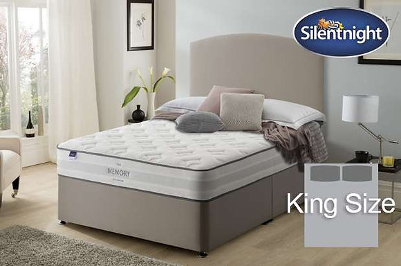 Silentnight Ruscha Miracoil King Size Divan Bed with Memory Foam
