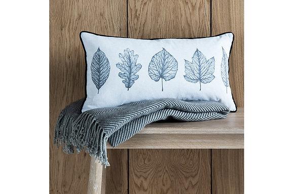 Skeleton Leaves Print Cushion
