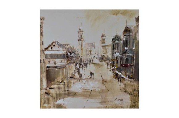 The Quiet Avenue Painting
