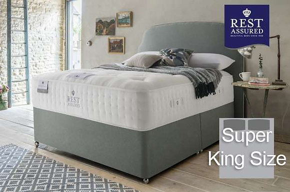 Rest Assured British Wool Medium Comfort Super King Size Divan