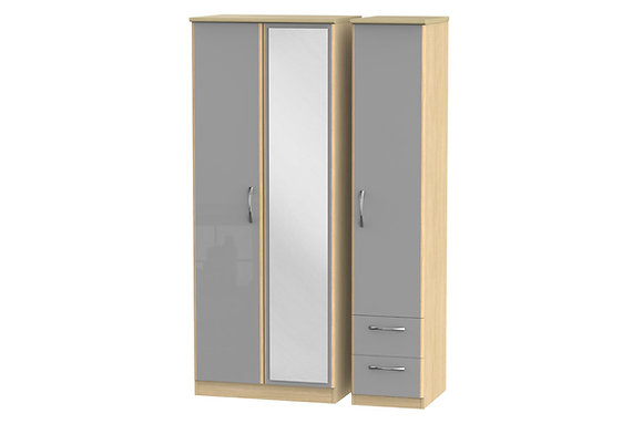 Ha Long Bay 2 Small Drawer Triple Wardrobe with Mirror