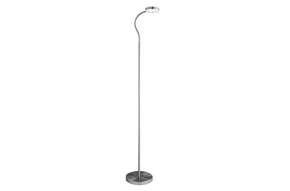 Searchlight Lighting Satin Silver Led Floor Lamp