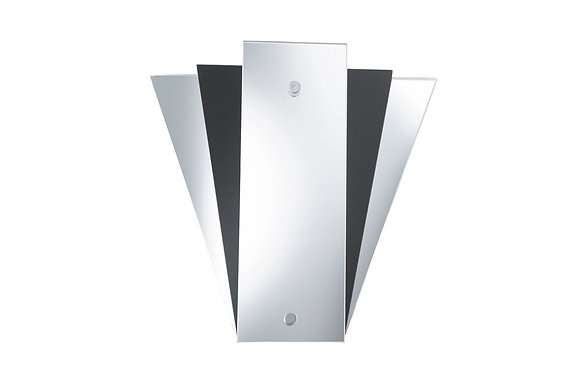 Searchlight Lighting Fan Style Black Mirror Wall Light