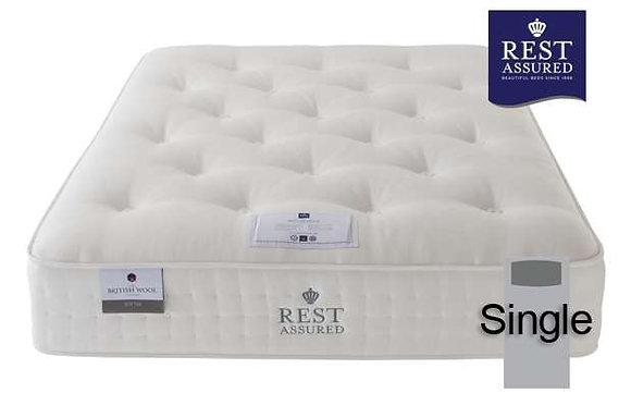 Rest Assured British Wool Softer Comfort Single Mattress