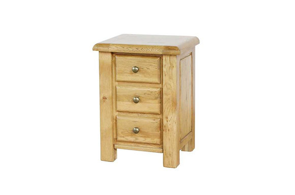 Sienna 3 Drawer Bedside