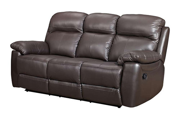 Aston Leather 3 Seater Manual Recliner Sofa