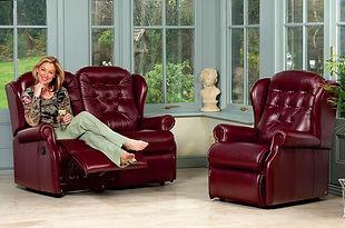 Sherborne Lynton Leather 2 Seater Sofa & Chair