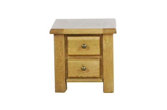 Sienna 2 Drawer Lamp Table