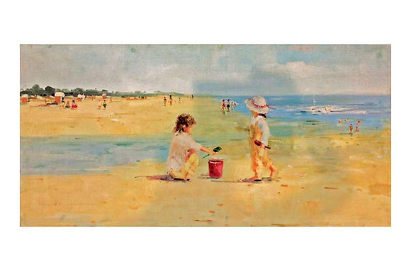 Lifes a Beach Oil Painting