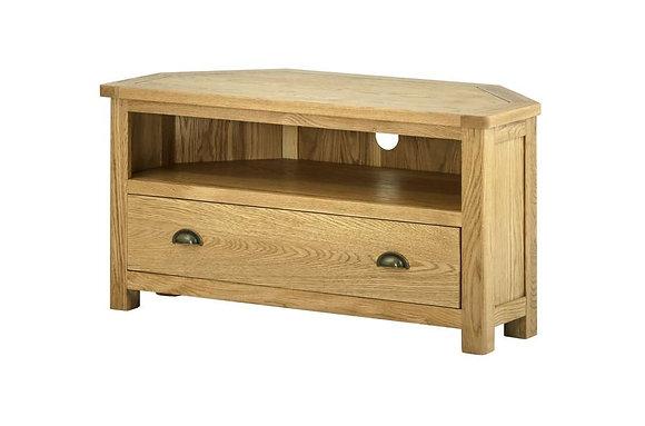 Portland Oak Corner TV Cabinet