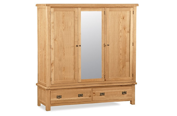 Brecon Large Triple Wardrobe with Mirror