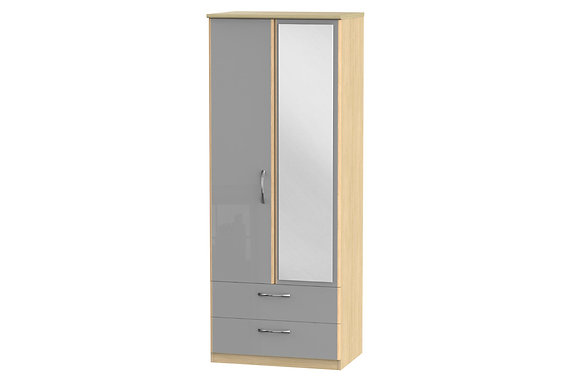 Ha Long Bay 2ft6in 2 Drawer Wardrobe with Mirror