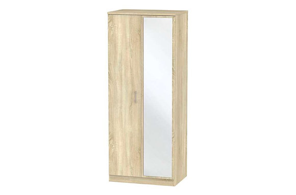 Devon 2ft6in Double Wardrobe with Mirror