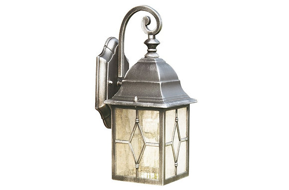 Searchlight Lighting Genoa Black & Silver Outdoor Wall Light