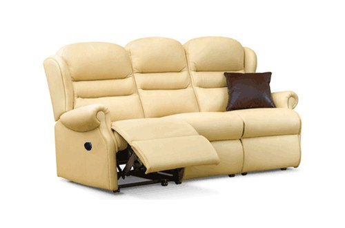 Sherborne Ashford Leather Small 3 Seater Power Recliner Sofa