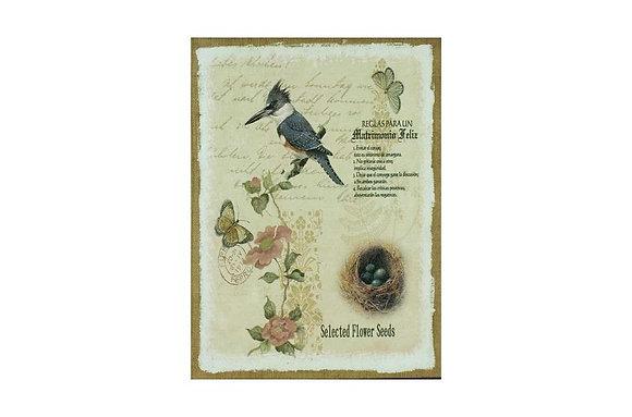 Natural Beauty Hessian Print
