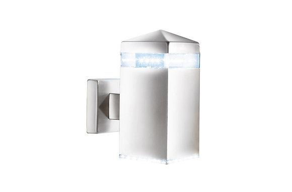 Searchlight Lighting Satin Silver Outdoor Wall Light