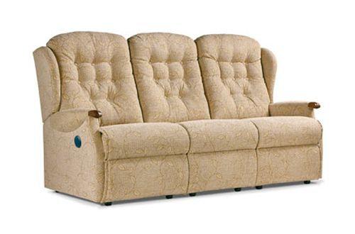 Sherborne Lynton Knuckle Standard 3 Seater Power Recliner Sofa