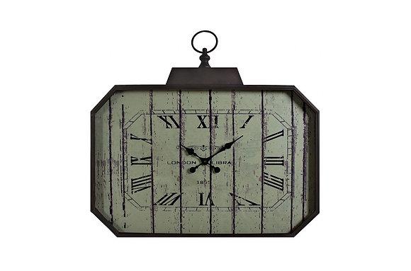 London Hexagonal Script Clock