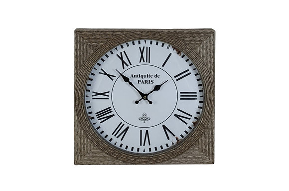 Reeded Square Clock