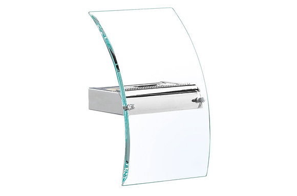 Searchlight Lighting Curved Chrome Wall Light