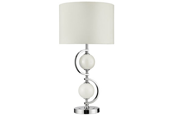 Searching Lighting Chrome Table Lamp with Cream Balls