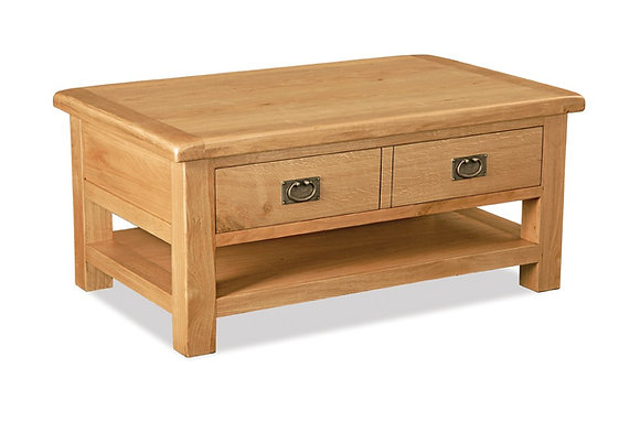 Brecon Large Coffee Table with Drawer & Shelf