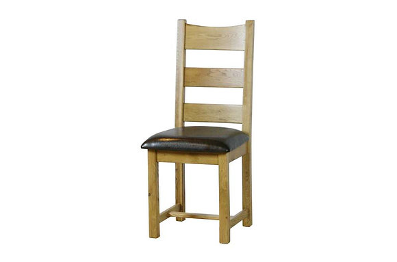 Sienna Dining Chair with Faux Leather Seat