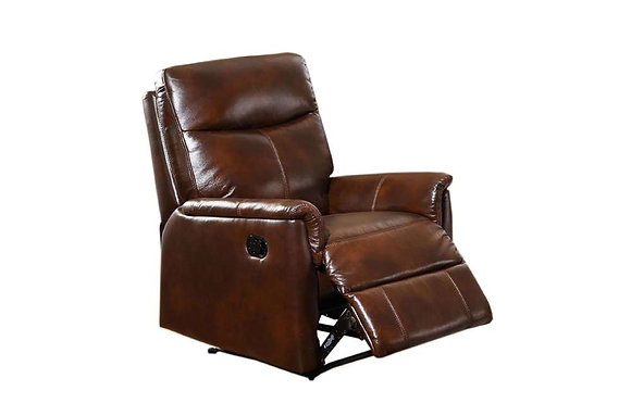 Graham Leather Manual Recliner Chair