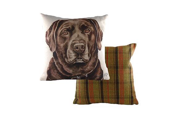 Waggydogz Chocolate Labrador Cushion