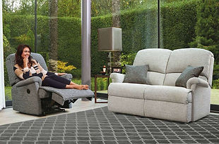 Sherborne Nevada Recliner Chair and 2 Seater Fabric Sofa