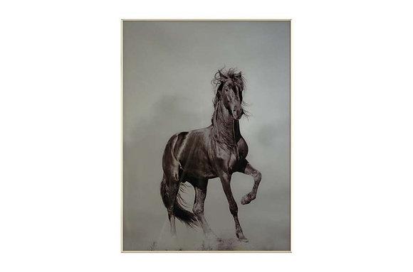 Startled Horse Glass Wall Art
