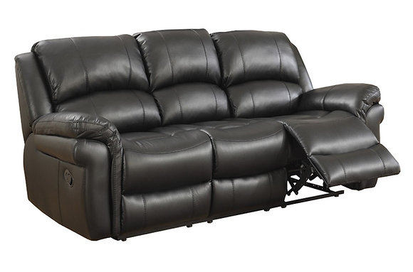 Farnhan 3 Seater Recliner Sofa (Leather Look Fabric)