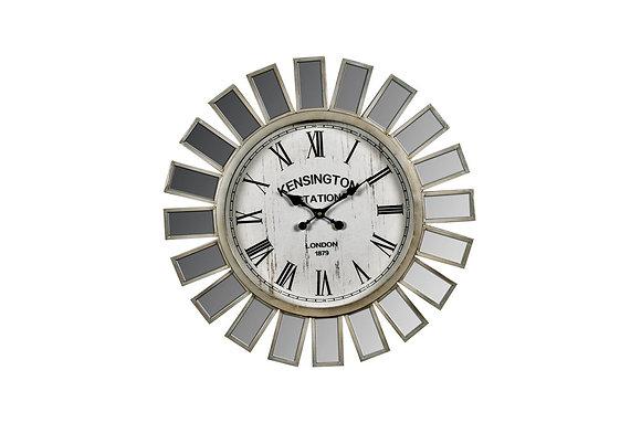 Mirror Panelled Wall Clock